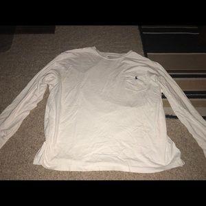 Long sleeve white Polo pocket t-shirt